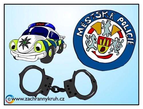 Výsledek obrázku pro kreslený strážníkCR